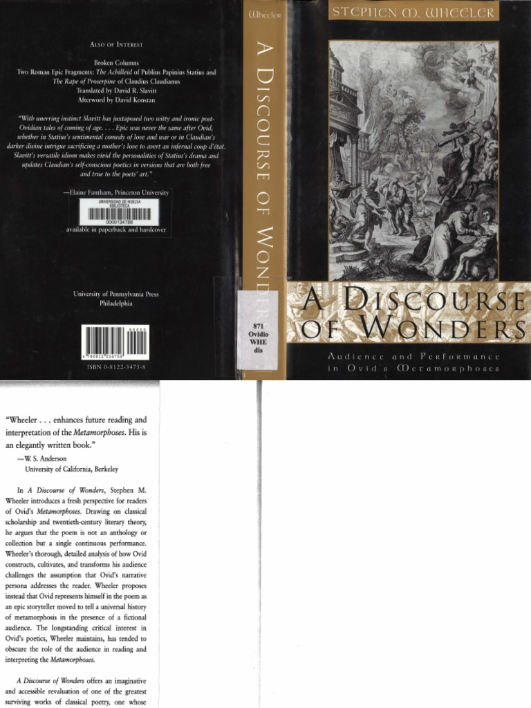 Wheeler A DISCOURSE OF WONDERS (10).pdf  Ovid  Narrative