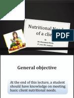 121358870 Fundamentals of Nursing Meeting Basic Client Nutritional Needs