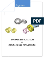 Guidage en rotation & Montage des roulements