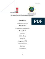 Hardware, Software Systems and Networks II – Individual Assignment - CB002873