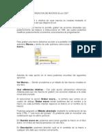 Creacion de Macros Excel 2007
