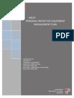 Miles - PPE Management Plan 2018