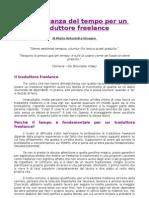 L'Importanza Del Tempo Per Un Traduttore Freelance