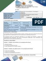 Guia de actividades y rubrica de evaluacion - Post-tarea - Evaluación final del curso