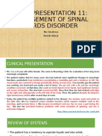 CP 11 MX OF SPINAL CORD DISORDERS