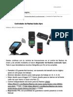 Controlador de flashes Godox Xpro