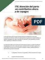 IMPORTANTE_ Atención del parto en el régimen contributivo ahora está exenta de copagos _ Noticias jurídicas y análisis de nuevas leyes AMBITOJURIDICO.COM