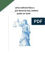 PROYECTO DE MALTRATO HACIA LA MUJER