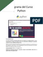 Programa Curso Python