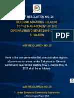IATF Resolution No. 29