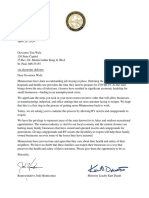 Letter to Governor Walz Regarding Campgrounds and RV Resorts