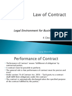 Contract Performance of Contract