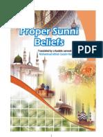 Book Proper Sunni Beliefs