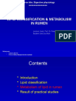 Term Paper- Lipid Clasfication and Metabolism in the Rumen