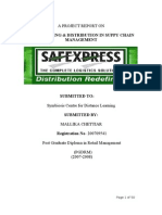 Project on Safexpress Warehousing and Supply Chain Management Dtd 08 11 09