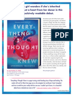 Everything I Thought I Knew by Shannon Takaoka Author's Note