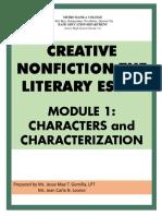 MODULE 1_ CHARACTERS and CHARACTERIZATION
