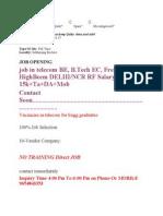Delhi Telecom Jobs
