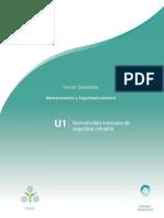 Planeación Unidad 1 Normatividad mexicana de seguridad industria