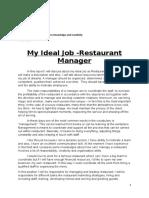 My Ideal Job Restaurant manager .docx