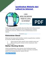 Cara Mengonlinekan Website dari Localhost ke Internet.docx
