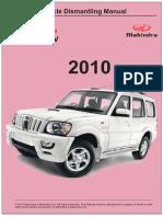 Vehicle Dismantling Manual Mahindra Goa Scorpio SUV 2010
