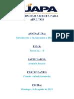 TAREA VI  Claudio Hernandez 201908057