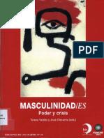 Masculnidades Poder y Crisis - Valdes _ Olavarría Eds