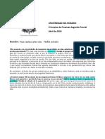 Prinicipios de Finanzas Parcial Numero 2 2020