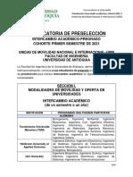 Convocatoria Intercambio Académico_Cohorte 2021-1