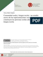 Comunidad sorda y lengua escrita  un estudio