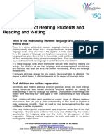 Deaf and Hard of Hearing Students and
