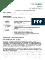 LearnEnglish-Reading-C1-Four-book-summaries