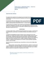 APUNTES DE HISTORIA DE LA ARQUITECTURA I ARQ ANTIGUA