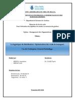 La logistique de distribution , Optimisation des coûts de transport (1).pdf