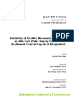 Thesis Suitability of Rooftop Rainwater Harvesting