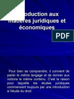 Introduction aux matières juridiques et économiques