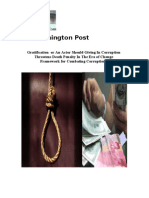 Gratification  or An Actor Should Giving In Corruption  Threatens Death Penalty In The Era of Change  Framework for Combating Corruption ?