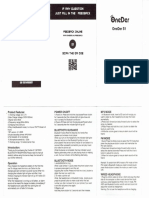 Head Phone OneDer S1 Manual Usuario