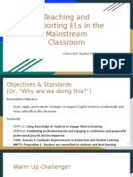 teaching and supporting els in the mainstream classroom