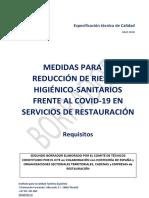 Medidas propuestas por la hostelería para abrir bares y restaurantes