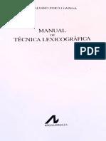 Manual de lexicografia