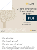 General Linguistics - Week 1 Lecture