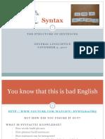 General Linguistics - Week 5 Lecture