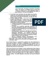 Ejemplo carta de compromiso, Cotización de la Auditoria