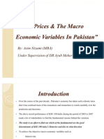 Stock Prices & the Macro Economic Variables