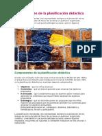 Componentes de La Planificación Didáctica