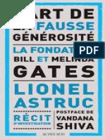 L'Art de La Fausse Générosité, La Fondation Bill Et Melinda Gates (2019)