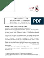 Regulamentação da defesa e normas de apresentação de Dissertação e Tese