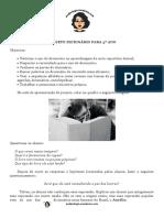 PROJETO DICIONÁRIO PARA 3º ANO